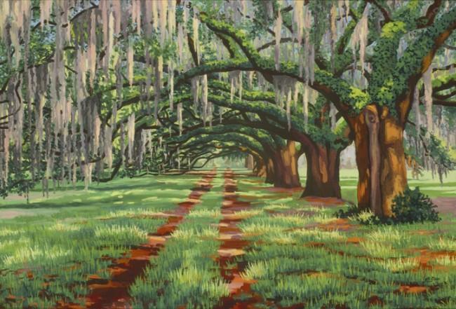 Oak Avenue at Dixie Plantation