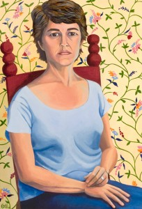 Self Portrait at 51 - 23 x 33  acrylic on canvas 2009