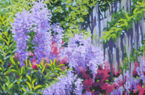 Wisteria and Azalea